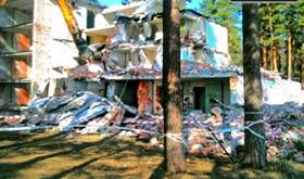Разборка здания спального корпуса
